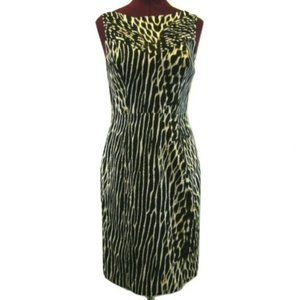 Vince Camuto Animal Print Black Tan Dress Kangaroo